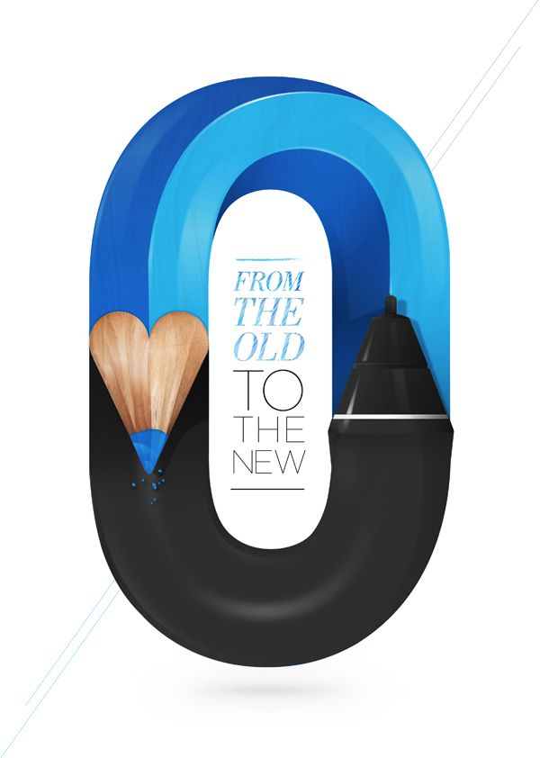 From the Old to the New by Baimu Studio #alphabet #type