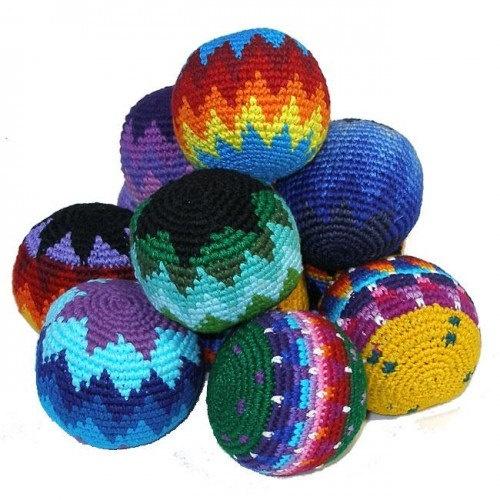 hand crochet hacky sack