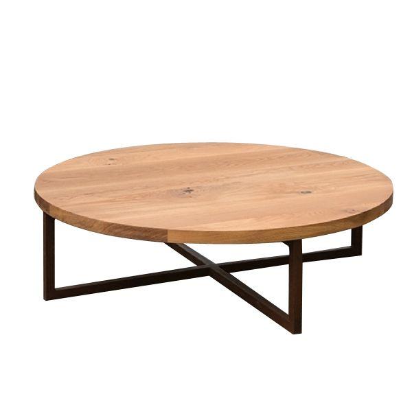 MARK TUCKEY rusted steel cross base coffee table
