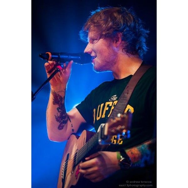 Ed Sheeran Festival Hall, Melbourne 04/03/13 Koffee ❤ liked on Polyvore featuring ed sheeran and ed