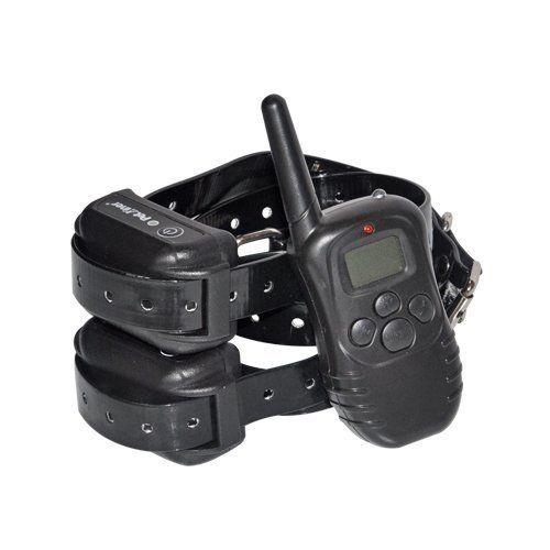Magicfly® 4 Mode Rechargeable LCD Collier de dressage pour chien étanche numérique télécommande choc électrique PET998DR-B pour 2 chiens:…