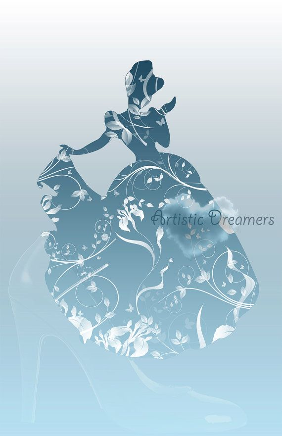 Princess Cinderella Silhouette by ArtisticDreamers on Etsy, $10.00