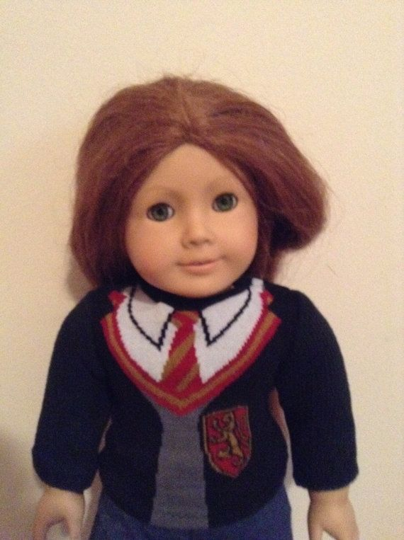 Harry Potter Gryffindor sweater for American Girl by AGByMonica4U