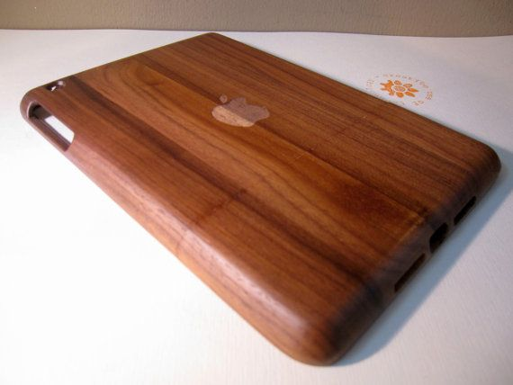 Ipad Mini case  wooden cases walnut or bamboo by CreativeUseofTech, $49.00