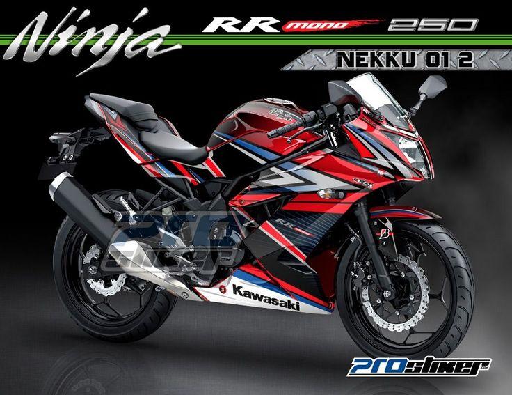 Modifikasi Ninja RR Mono 250cc Warna Merah Stiker Motor