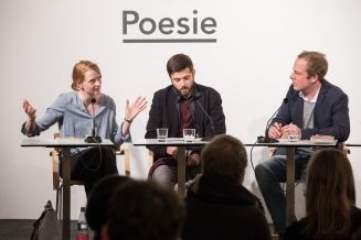 Die besten Lyrikdebüts 2016 am 23.2.2017 - Anja Kampmann, Alexandru Bulucz und Tobias Lehmkuhl (c) gezett