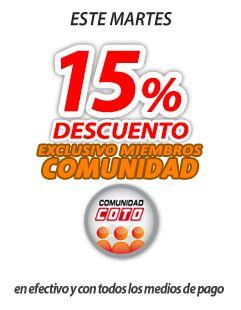 15% descuento con Comunidad Coto en todos los productos*