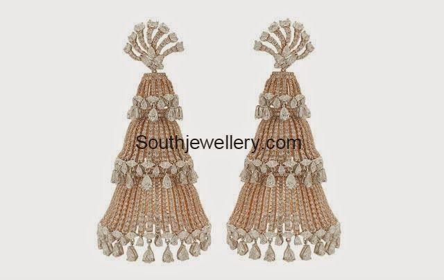 diamond jhumkas ~ Latest Jewellery Designs