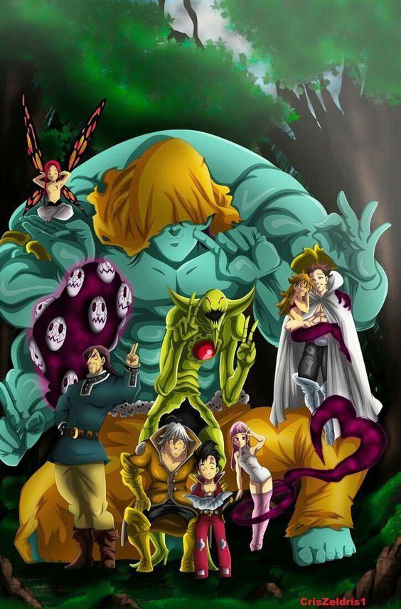 Nanatsu No Taizai Los 10 Mandamientos 7 Pecados Pecados Capitales Anime 7 Pecados Capitales