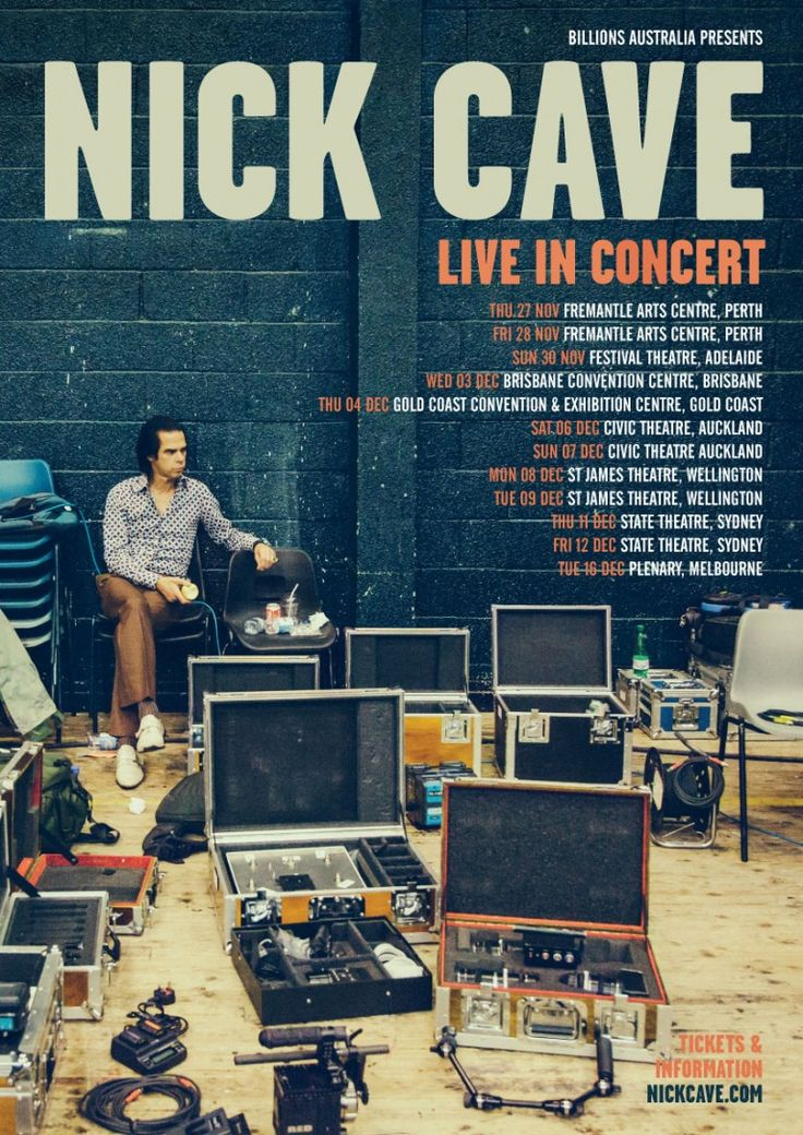 Nick Cave Solo Australian and New Zealand Tour 2014 / Nick Cave
