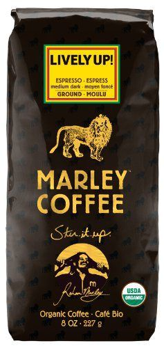 Marley Coffee, Organic Lively Up! Espresso Ground Coffee, 8 Ounce - http://teacoffeestore.com/marley-coffee-organic-lively-up-espresso-ground-coffee-8-ounce/