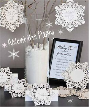 snowflake decorations for weddings snowflake theme intricate cards and table cards 7575