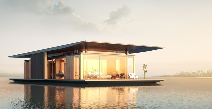 Designed by Dymitr Malcew for Paris based developer H2orizon, this floating house is one of a kind. One can easily imagine it as the floating bungalow of a luxury...