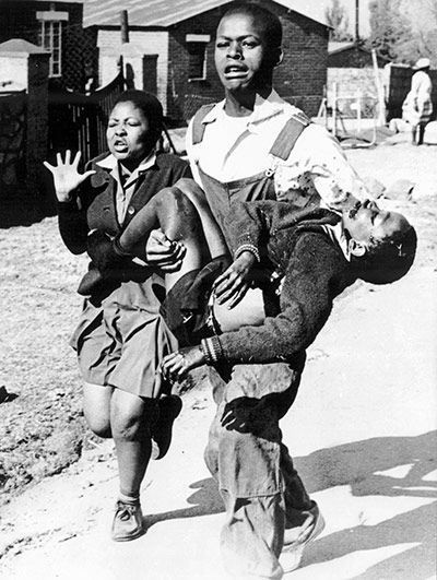 Soweto school strike and uprising 1976.   The walkout by pupils at Orlando West Junior School in Soweto on 30 April 1976 in protest at being taught in Afrikaans was the fuse of the movement that came to be led by Nelson Mandela and which overthrew apartheid in South Africa. By June, Soweto was in revolt and some 600 people had been killed by the police and army. But the uprising established the jailed Mandela's ANC as a guiding force for liberation and was immediately heeded in Britain.