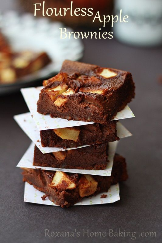 Apple brownies, Brownies and Chocolate apples on Pinterest