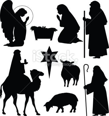 Nativity Scene Silhouette | nativity scene silhouette image search results
