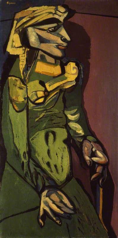 Woman in Green, 1949 by Robert Colquhoun (Scottish 1914-1962)