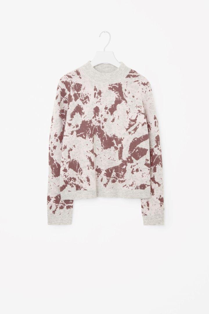 Knitted jacquard jumper - Light Grey - Knitwear - COS GB