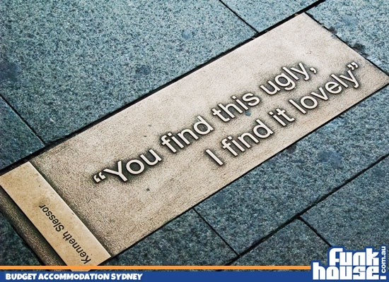 """'You find this ugly. I find it #lovely"""" - Kings Cross, Sydney"""