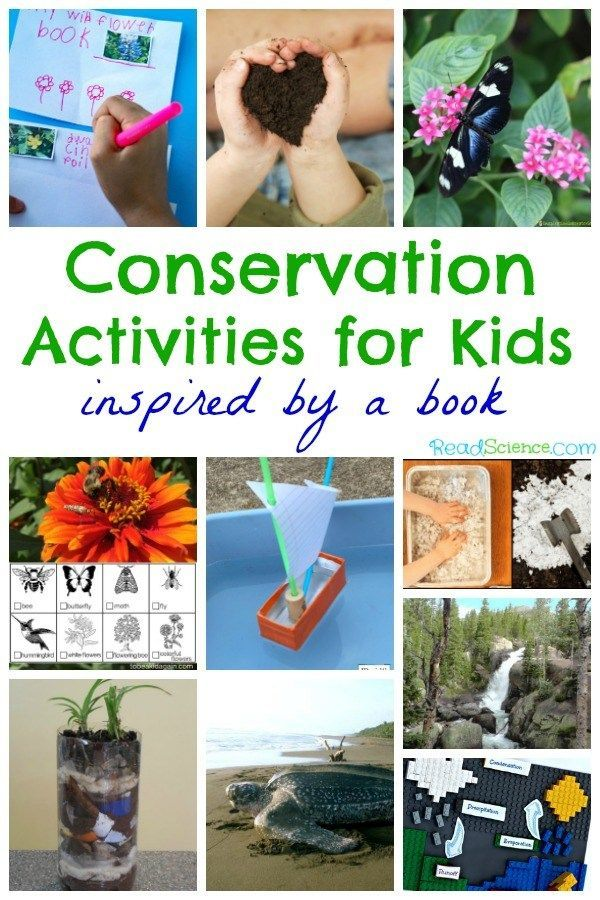 Conservation activities for kids inspired by a book - great for Earth Day and learning about our environment