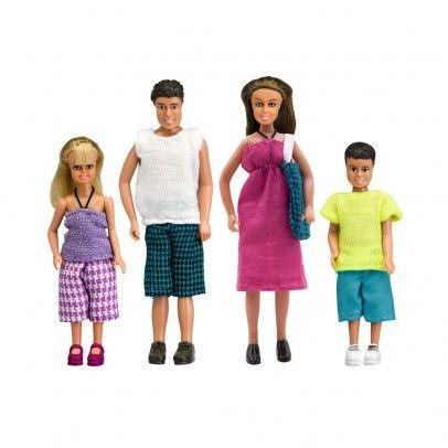 Famille 4 personnes tenue d'été  Lundby
