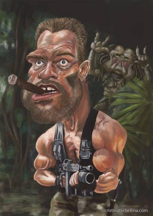 Caricaturas de Famosos: A. Schwarzenegger                                                                                                                                                     More