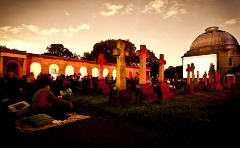 The Nomad Cinema at Brompton Cemetery