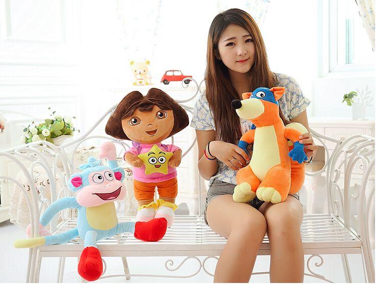 3 шт./компл. 25 см дора исследователь дора девушка и обезьяна и Swiper фокс мультфильм плюшевые мягкие игрушки куклы подарок forChildren купить на AliExpress