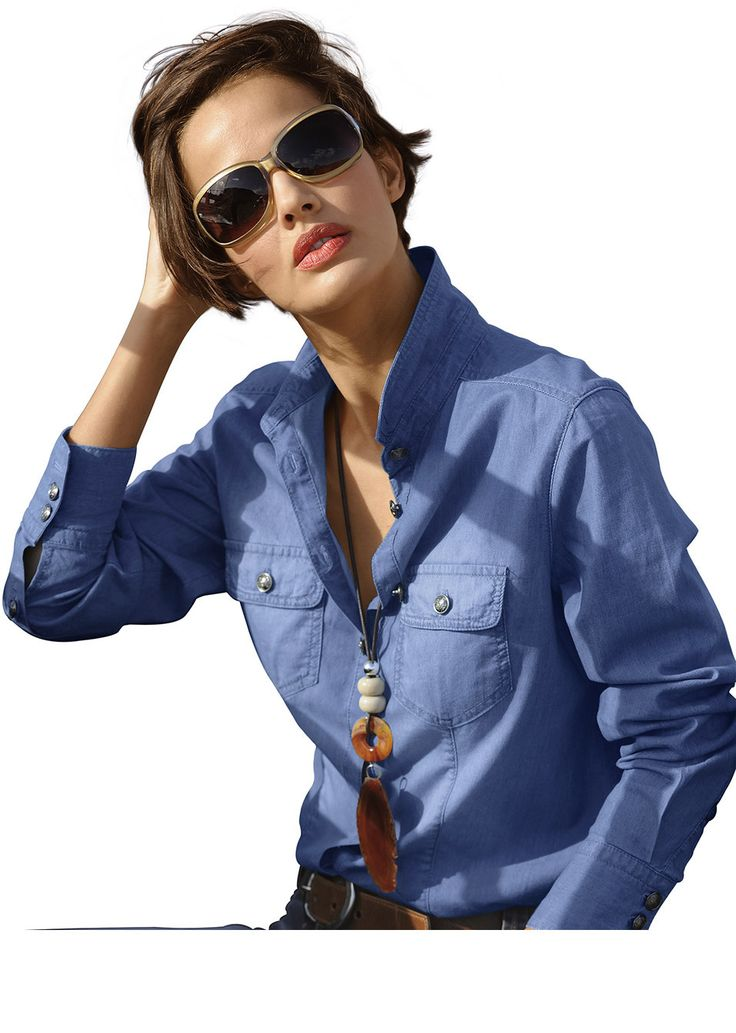 Bluzka dżinsowa Klasyczna bluzka • 47.99 zł • bonprix
