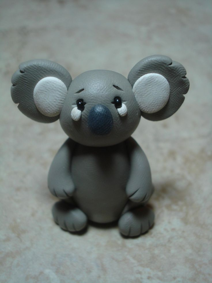 Koala Clay Figurine by ClayCreationsbyLaura on Etsy, $8.00