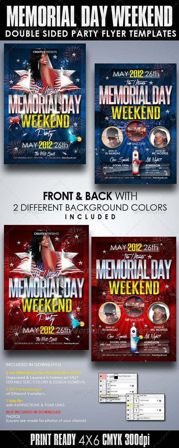 memorial day event flyer