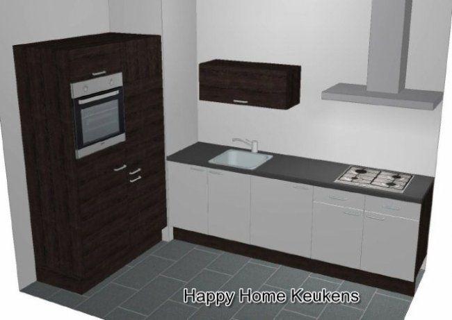 Keuken uit 2 delen 270 cm en 120 cm HHBK1117 · vanaf € 1995.00 · Happy Home Keukens