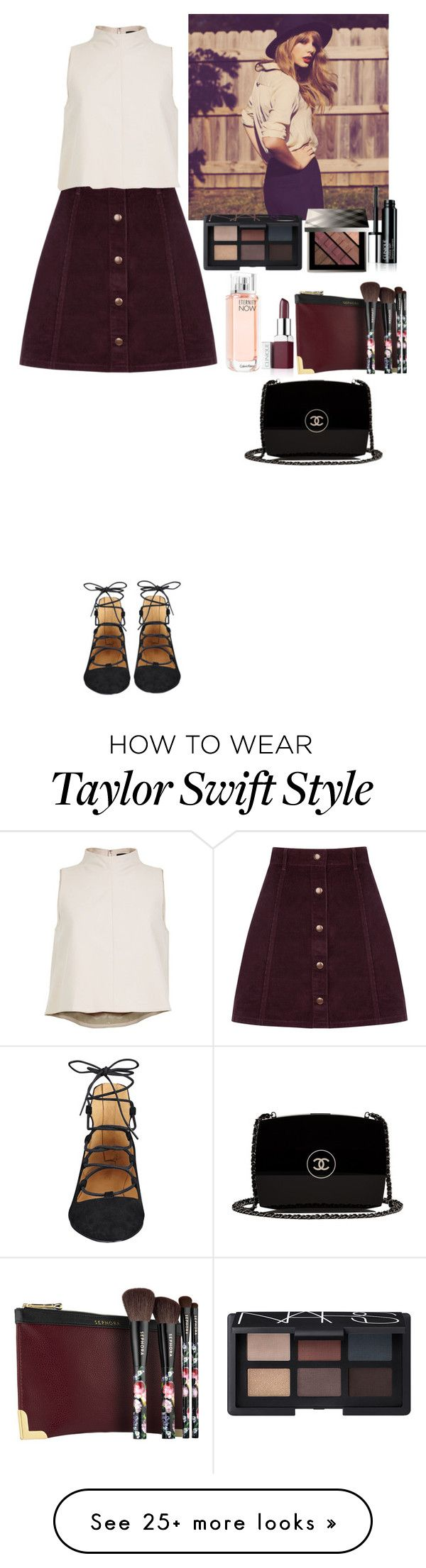 """""""Outfit"""" by eliza-redkina on Polyvore featuring moda, Oasis, TIBI, Nine West, Sephora Collection, Burberry, Clinique, NARS Cosmetics, Calvin Klein e Chanel"""