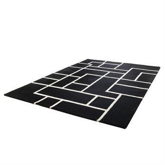 Kvarter rug - black/white - Etol Design
