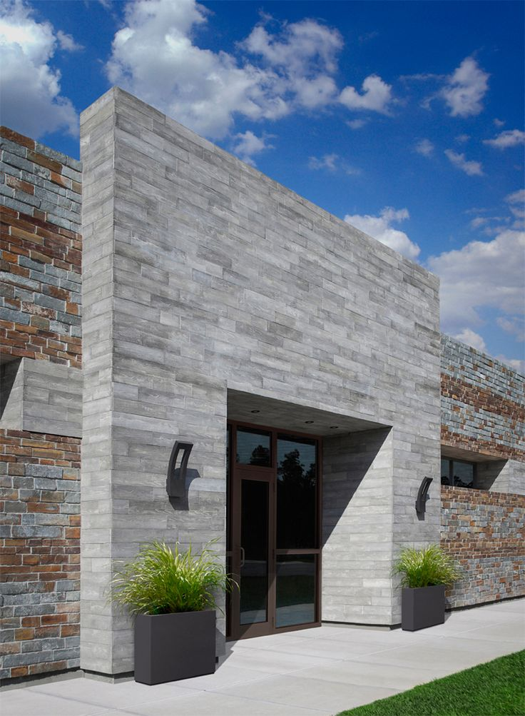 Thompson Bldg. Materials Design Center in San Diego: Creative Mines Monsoon Craft Board Form exterior - crafted thin veneer available at Thompson / Silverado Bldg. Materials in Bay Area.