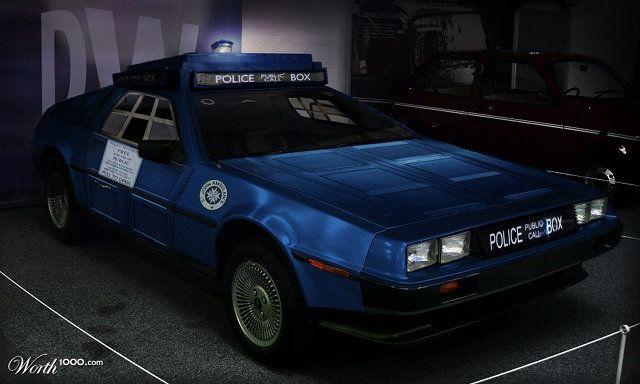 TARDIS DeLorean. Holy. Crap.: Time Machine, Time Travel, The Tardis, Cars, Tardis Delorean, Doctor Who, Dr. Who, Ultimate Time, Delorean Tardis