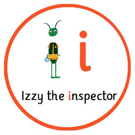 Learn the sound for the letter 'I' for Izzy the inspector   Free Phonics App   Literacy Key Stage 1