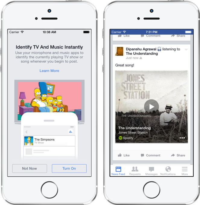 Facebook Adds Shazam-Style Audio Recognition To Help You Automatically Tag Posts With TV Shows And Songs