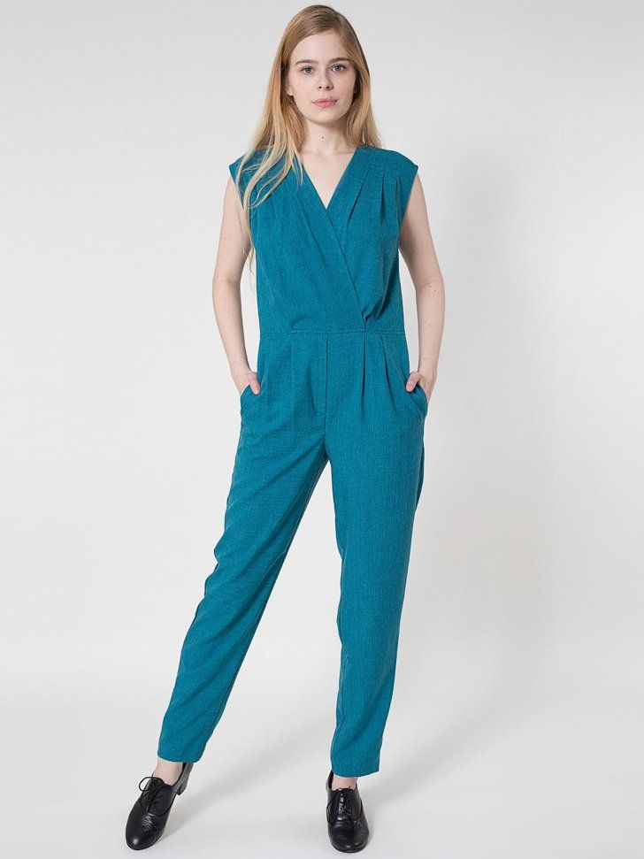 Pin for Later: Man kann es wieder wagen, American Apparel zu kaufen American Apparel Jumpsuit Polyester Zanzibar Jumpsuit ($98)