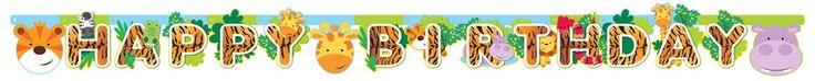 Guirnalda de cumpleaños de animales  #fiestadelaselva #fiestadesafari #fiestastematicas #animales #globosdeanimales #globocaballo #globojirafa #globopez #animalparty #safariparty #zooparty #ideasfiesta #fiestainfantil #globosfiesta #balloons #globopanda #pandaballoon