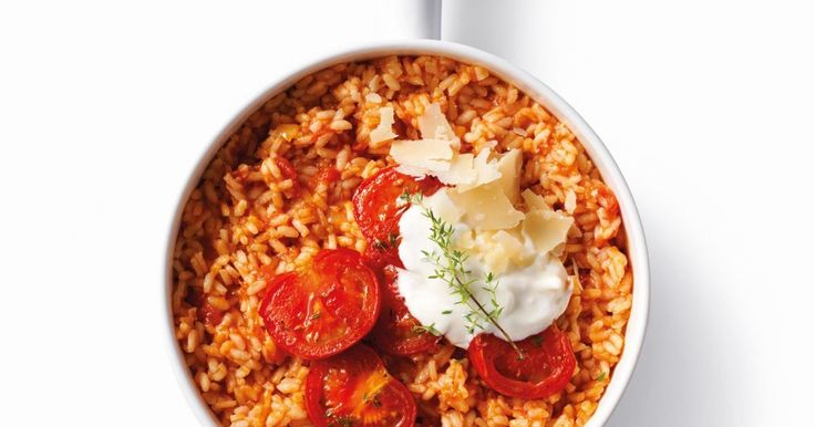Vervang de klassieke champignons in je risotto eens door tomaten!