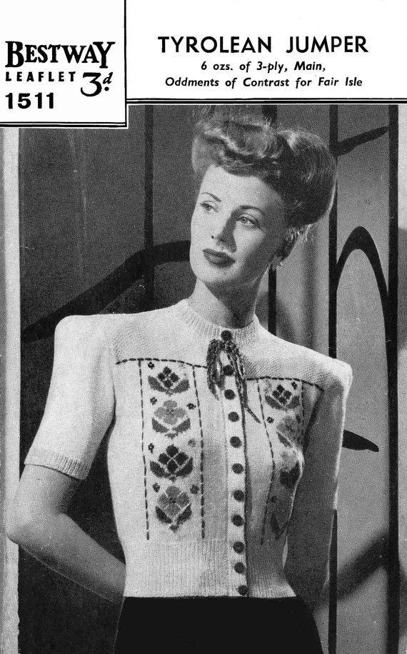 287 best Vintage knitting patterns - women's cardigans. images on ...