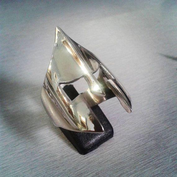 300 espartanos anillo plata 925