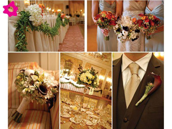 decoracin para boda vintage en tonos tierra