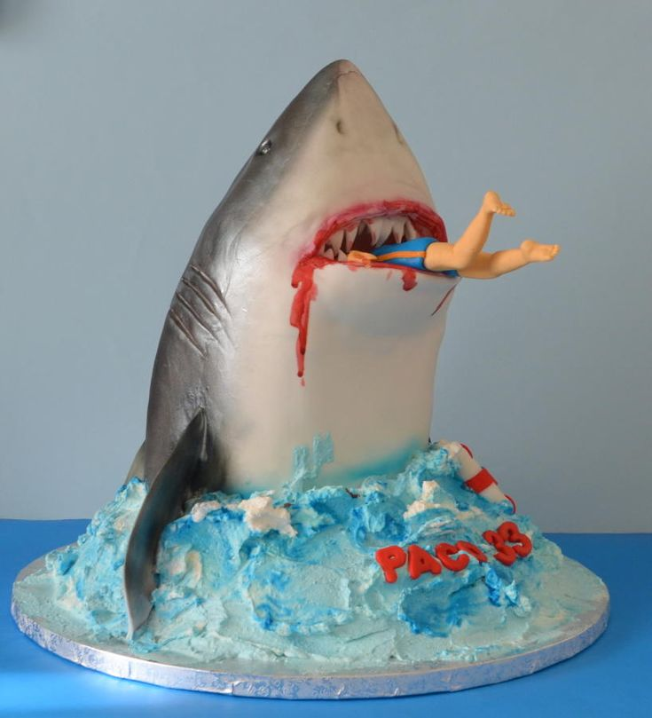 Jaws Cake Brailey S 9th Bday Birthdays And Jungle