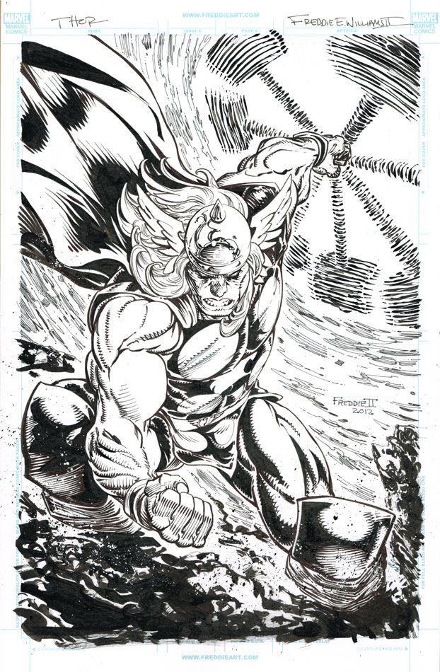 Thor By Freddie E Williams Ii Freddieewilliamsii Thor Asgard Avengers Odinson Donaldblake Godofthunder Mjolnir Thor Art Comics Artwork Jack Kirby Art