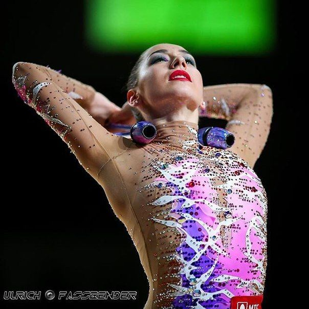 Katsiaryna Halkina (Belarus) got 17.200 points for clubs at Qualifications Olympic Games 2016