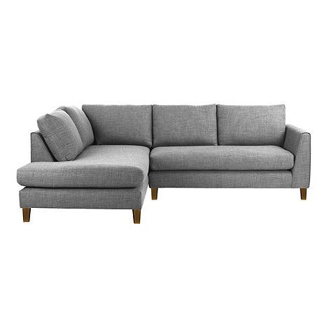 Our 'Jakob' range is designed by Ben de Lisi and takes inspiration from the clean lines and contemporary styling of Scandinavian design. This chaise corner sofa features tapered arms and comfortable cushioning, while a fine-textured fabric finish complements the modern, tailored look.