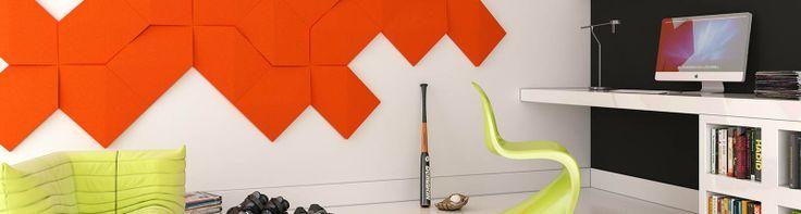 Fluffo, Fabryka Miękkich Ścian. Miękkie panele ścienne 3D, kolekcja LINK.