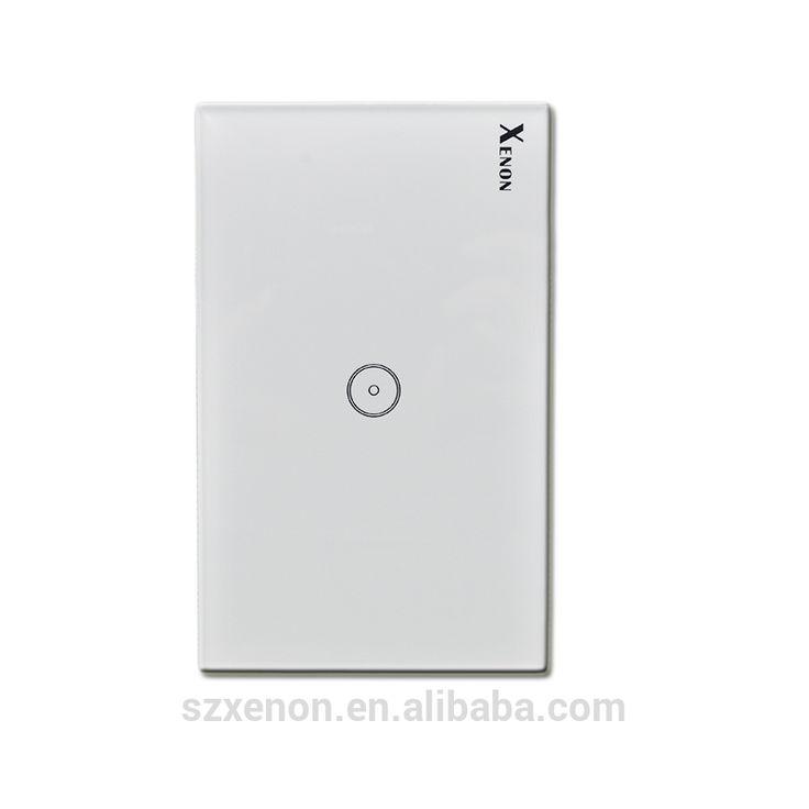 Jinvoo Smart Wi-Fi Switch button Glass Panel 1 gang US Touch Light Switch panel WiFi Alexa echo Wall Switch 110~240V